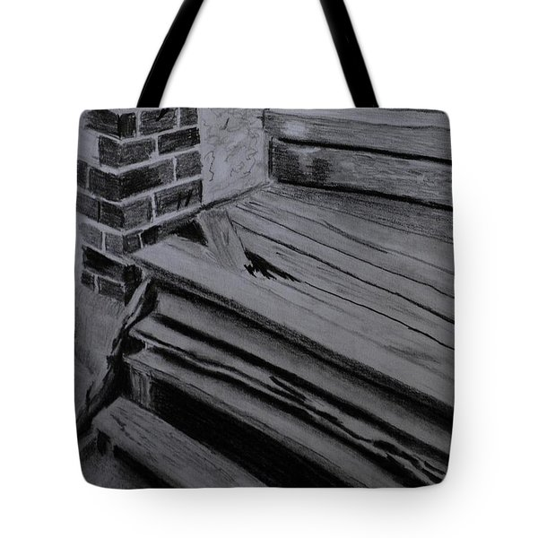 Old Wooden Steps In Milang Tote Bag