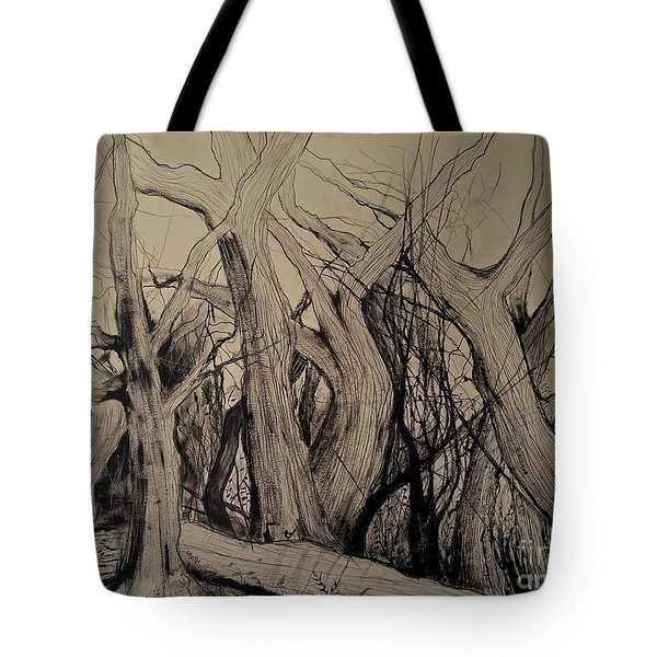 Old Woods Tote Bag