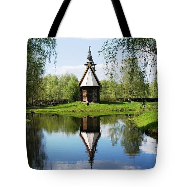 Old World Church Tote Bag