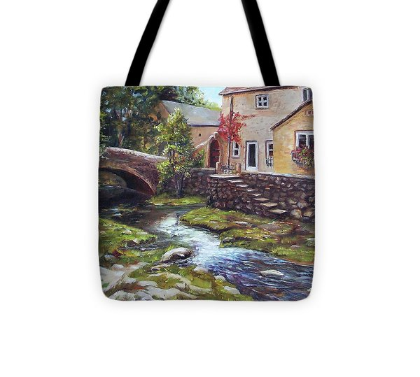Old World Cottage Tote Bag by Donna Munsch