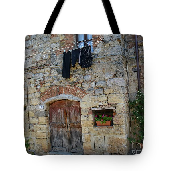 Tote Bag featuring the photograph Old World Door by Frank Stallone