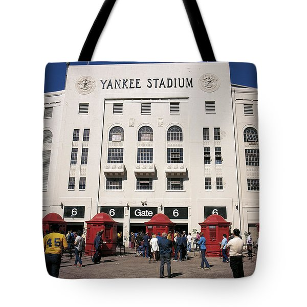 Old Yankee Stadium Last Game Tote Bag