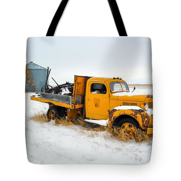 Old Yellow Tote Bag by Todd Klassy