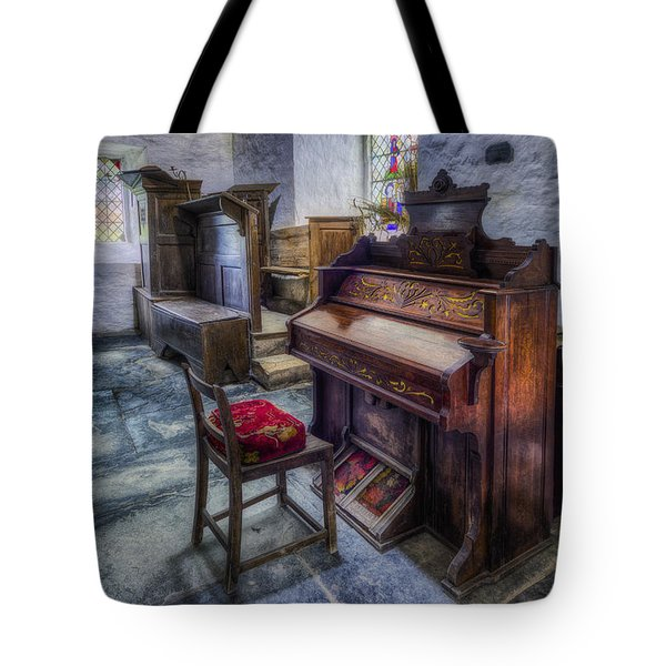 Olde Church Organ Tote Bag by Ian Mitchell