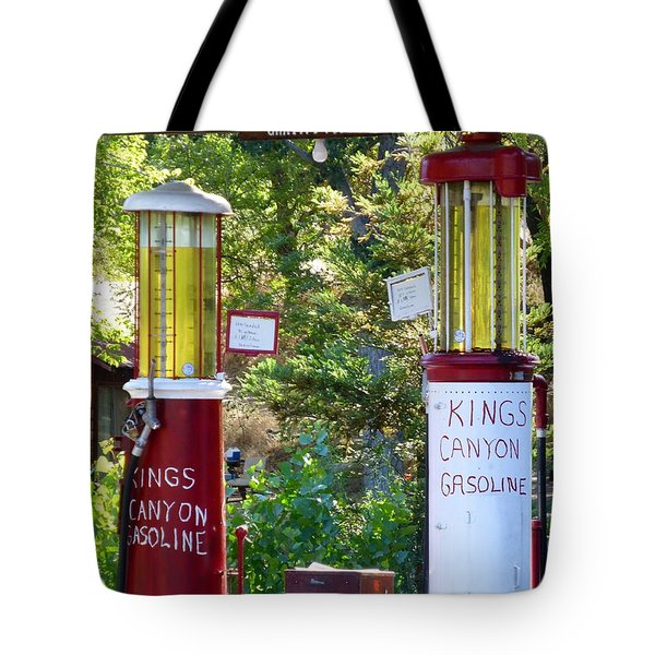 Oldest Dbl. Gravity Gas Pumps 1928 Tote Bag by Amelia Racca
