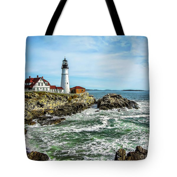 Oldest Lighthouse In Maine Tote Bag