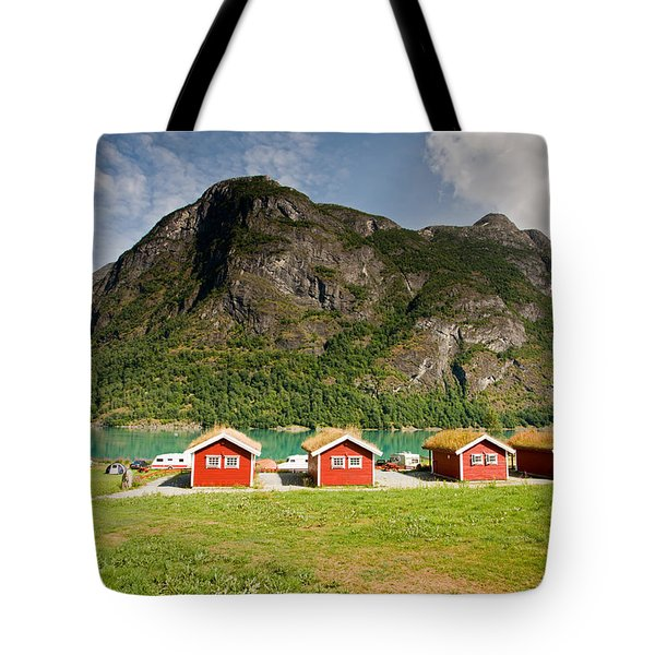 Oldevatnet Lake In Jostedalsbreen National Park Tote Bag