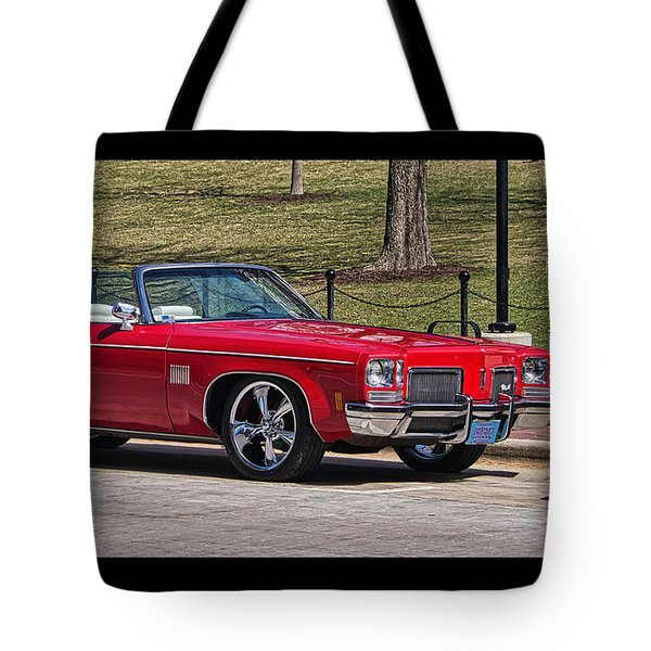 Oldsmobile Delta Royale 88 Red Convertible Tote Bag