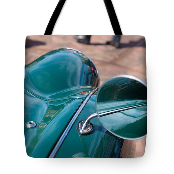 Tote Bag featuring the photograph Oldtimer Mirror by Hans Engbers