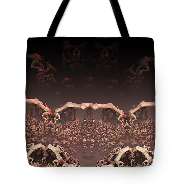 Tote Bag featuring the digital art Ole Bones by Melissa Messick