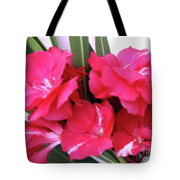 Tote Bag featuring the photograph Oleander Geant Des Batailles 1 by Wilhelm Hufnagl