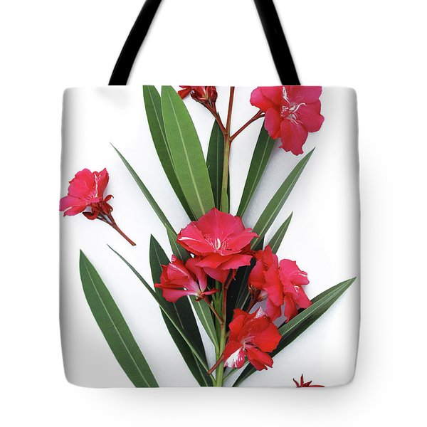 Tote Bag featuring the photograph Oleander Geant Des Batailles 2 by Wilhelm Hufnagl
