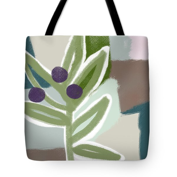 Olive Branch 1- Art By Linda Woods Tote Bag