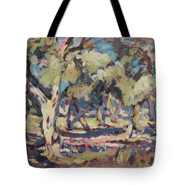 Olive Grove Along Marmari Beach Paxos Tote Bag