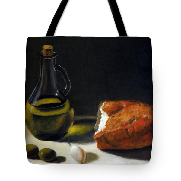 Olive Oil And Bread Tote Bag