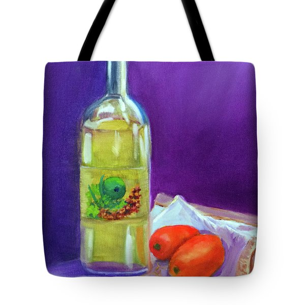Olive Oil And Tomatoes Tote Bag