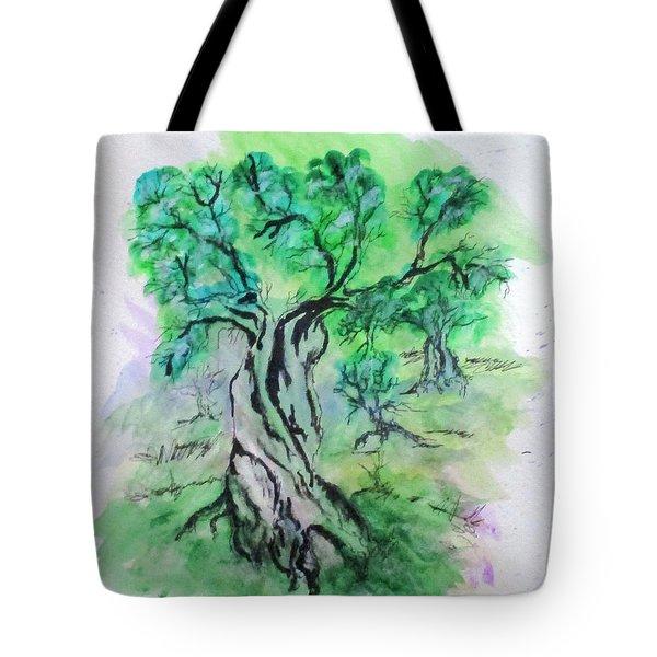 Olive Tree Grove Tote Bag