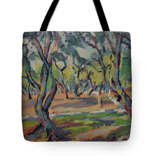 Olive Yard Paxos Greece Tote Bag