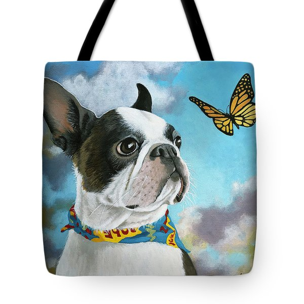 Oliver - Dog Pet Portrait Tote Bag