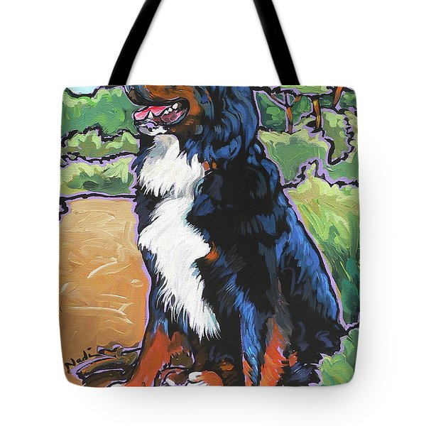 Tote Bag featuring the painting Oliver by Nadi Spencer