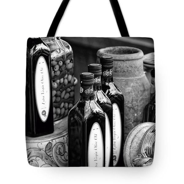 Olives And Oil Tote Bag