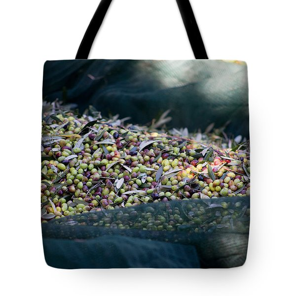 Olives On The Nets Tote Bag