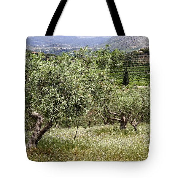Olives Tote Bag by Shirley Mitchell