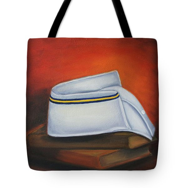 Tote Bag featuring the painting Olivet Nazerene University  by Marlyn Boyd