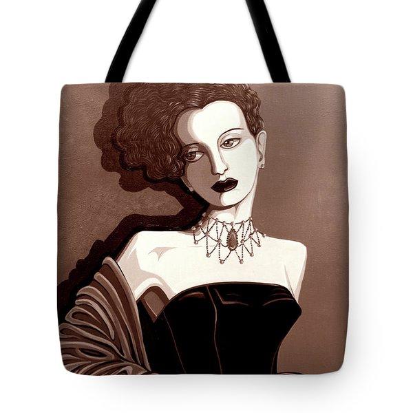 Olivia In Sepia Tone Tote Bag by Tara Hutton