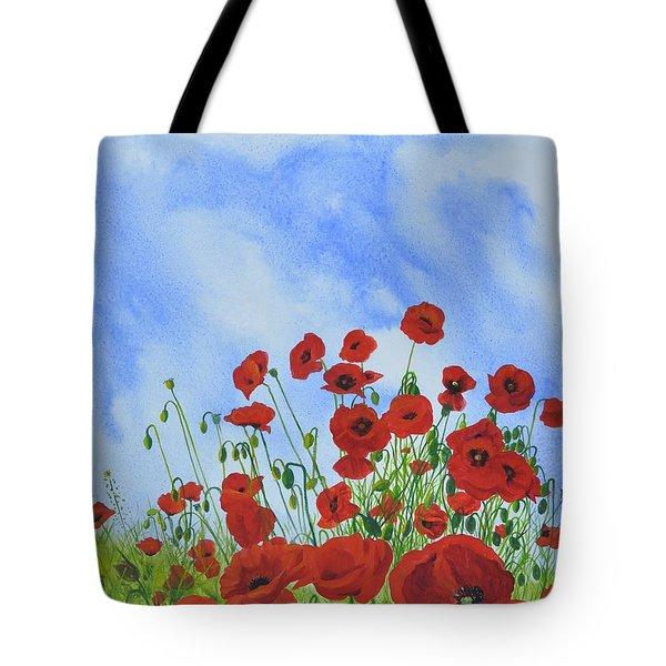 Olivia's Poppies Tote Bag