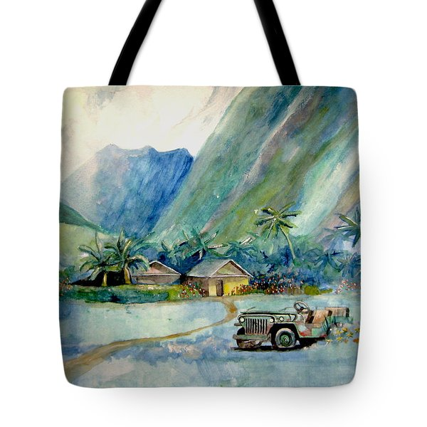 Olowalu Valley Tote Bag by Ray Agius