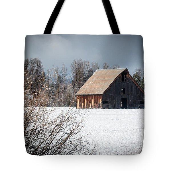 Olsen Barn In Snow Tote Bag