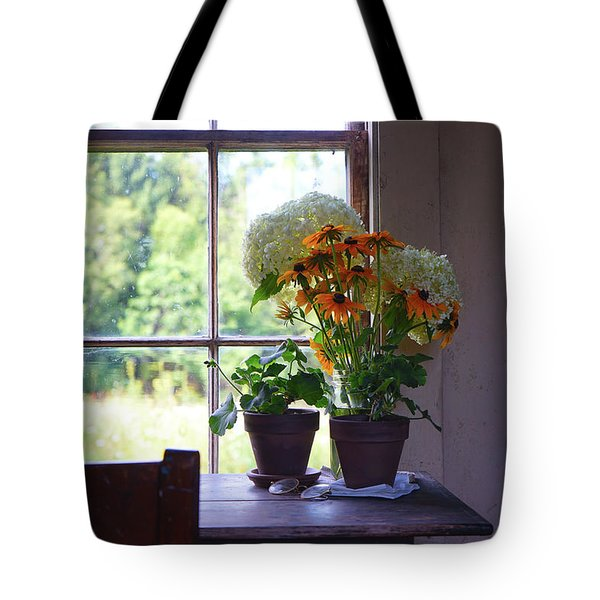 Olson House Flowers On Table Tote Bag