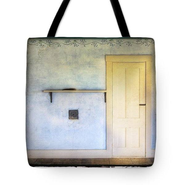 Olson White Door Tote Bag