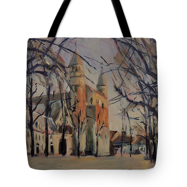 Olv Square On A Sunny Winter Afternoon Tote Bag