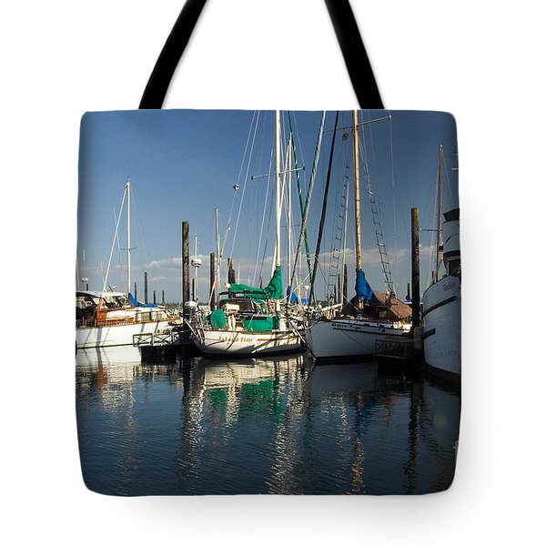 Olympia Marina Tote Bag by Chuck Flewelling