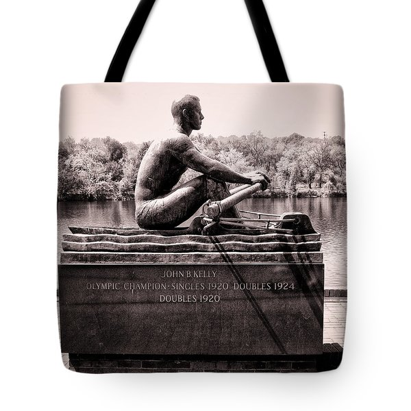 Olympic Champion - John B Kelly Tote Bag by Bill Cannon