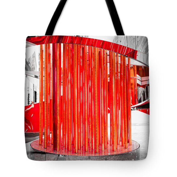 Olympic Neon Flame Tote Bag