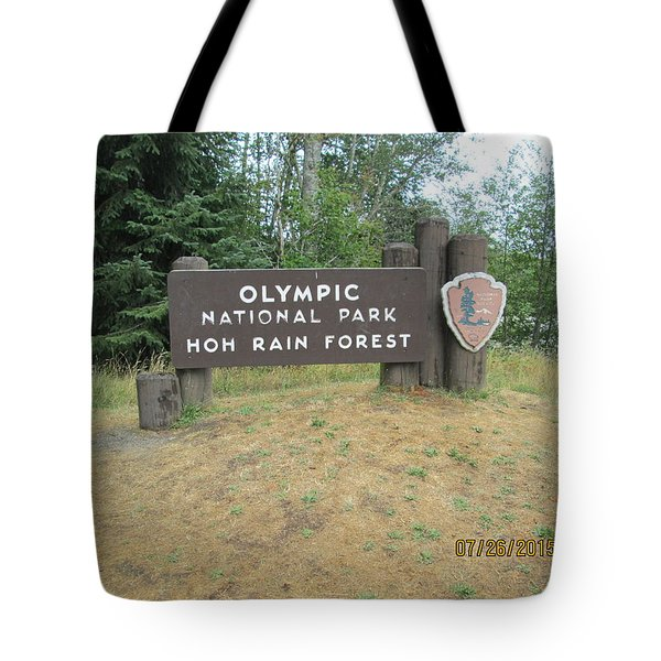 Olympic Park Sign Tote Bag