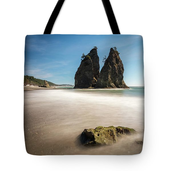 Tote Bag featuring the photograph Olympic Shoreline by Pierre Leclerc Photography