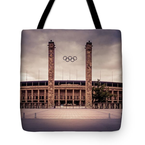 Olympic Stadium Berlin Tote Bag by Stavros Argyropoulos