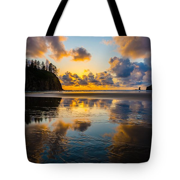 Olympic Sunset Glow Tote Bag