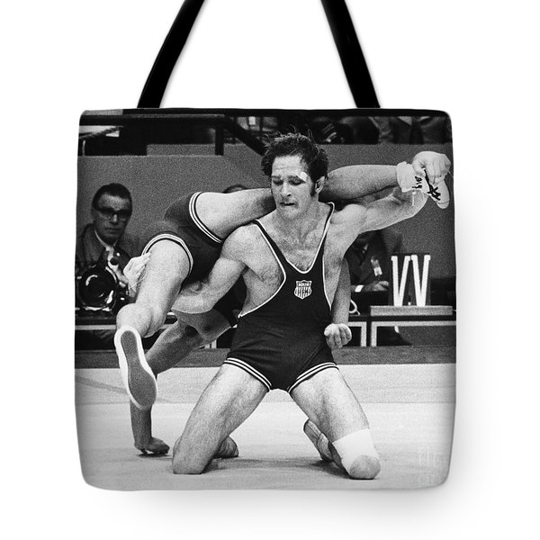 Tote Bag featuring the photograph Olympics: Wrestling, 1972 by Granger