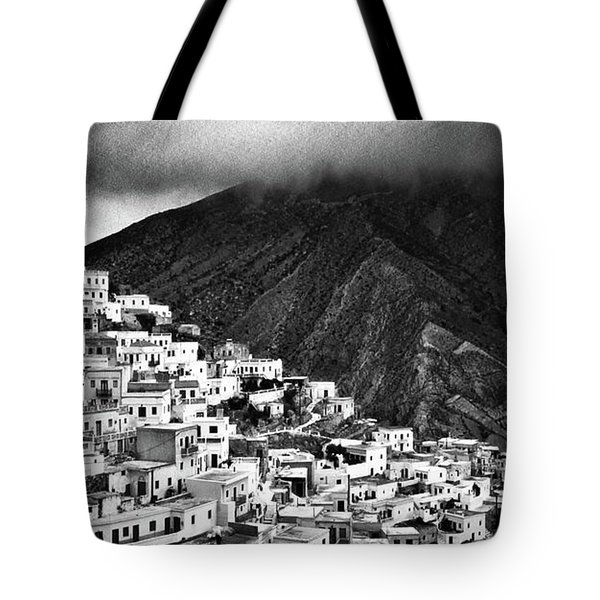 Olympos. Karpathos Island Greece Tote Bag by Silvia Ganora