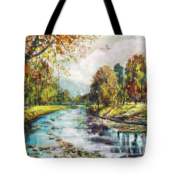 Olza River Tote Bag