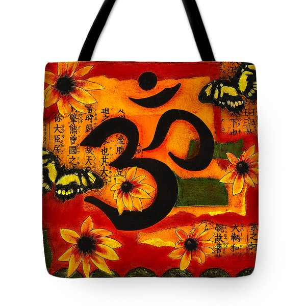Tote Bag featuring the mixed media Om by Gloria Rothrock