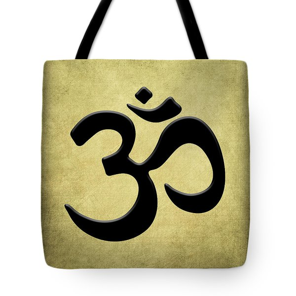 Om Gold Tote Bag by Kandy Hurley