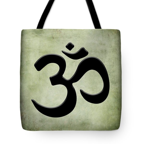 Tote Bag featuring the painting Om Green by Kandy Hurley