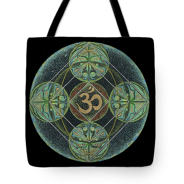 Tote Bag featuring the painting Om by Keiko Katsuta