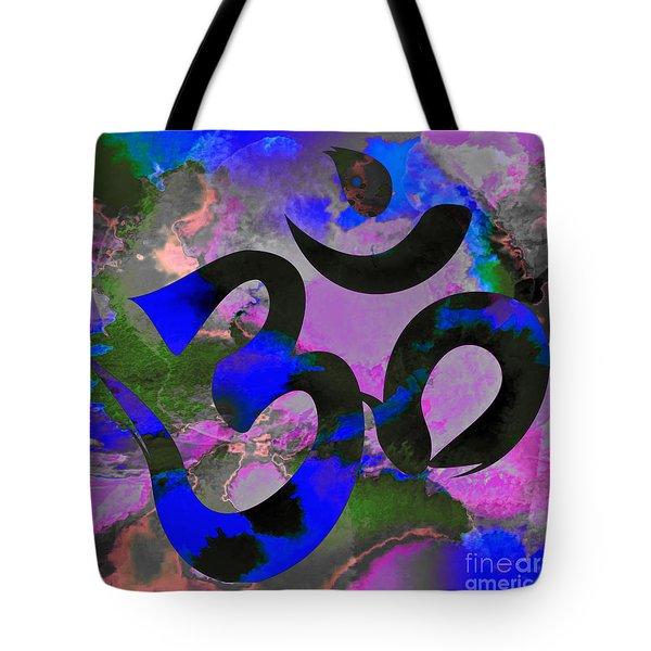 Om Symbol, Black, Blue And Purple Tote Bag